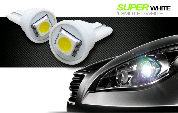 Led remplacement ampoule T 10 W5W SMD type 5050
